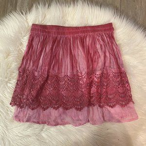 Raga The Setting Sun Skirt Boho Tie Dye Lace Mediu